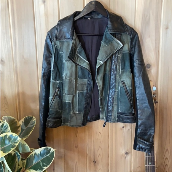 Free People patchwork jacket, size 4